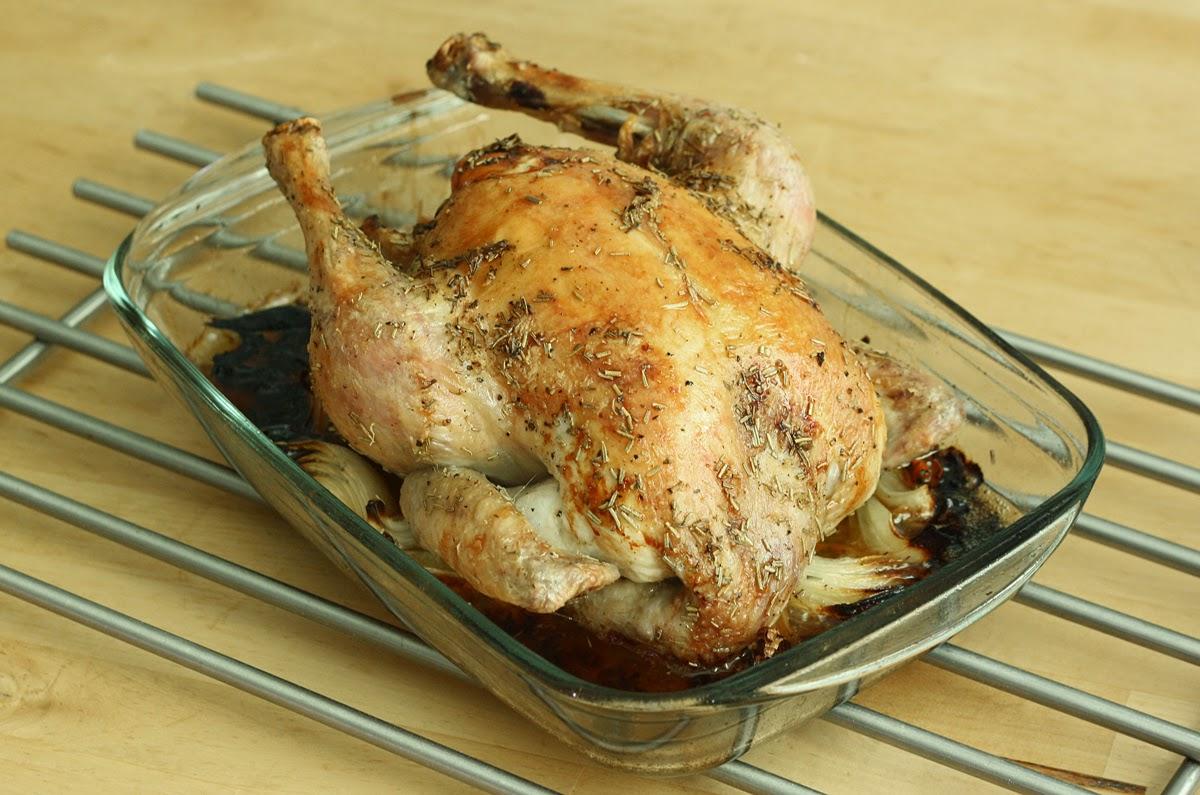 kurczak z piekarnika pieczony w całości