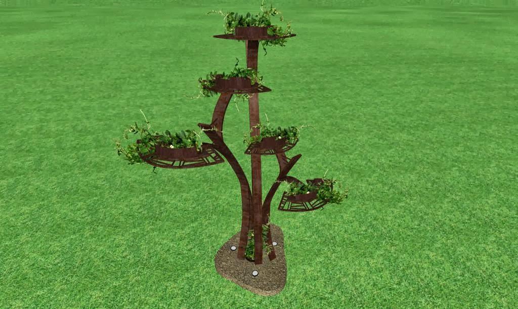 escultura de metal para un jardin de lujo acabado hierro oxidado foto 2