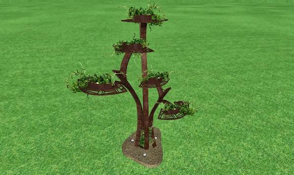 escultura de metal de diseño artistico para un jardin de lujo acabado hierro oxidado foto 3