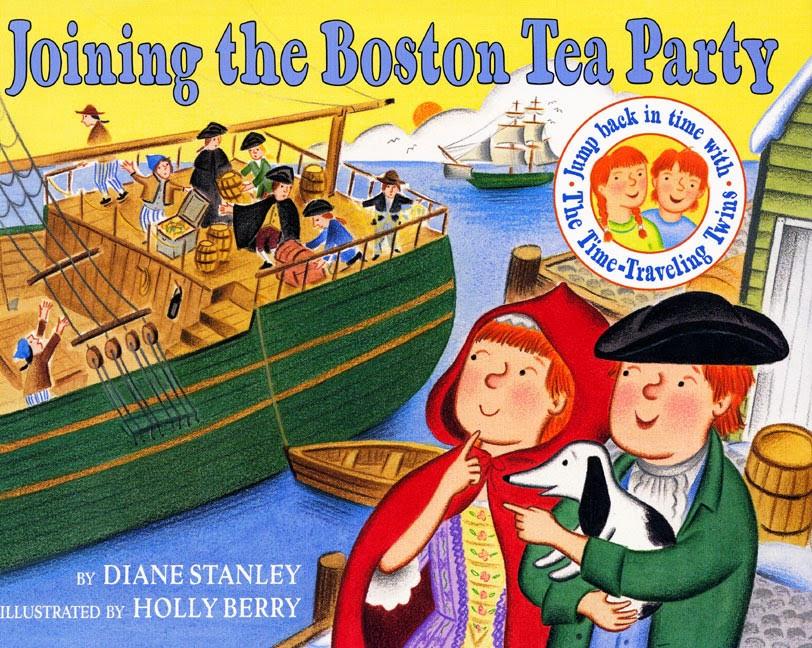 "Image of children's book titled ""Joining the Boston Tea Party"""