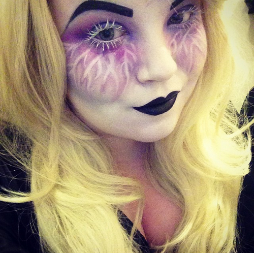Makeup Revolution Salvation Palette, halloween makeup, blonde wig, georgina grogan makeup artist