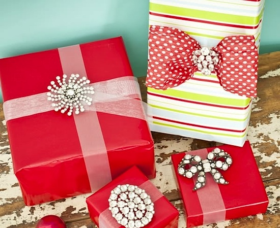 stylish wrapping ideas, embrulhos natal