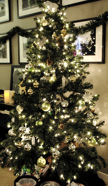 Our emerald city tis the season to be jolly for Green and gold christmas tree