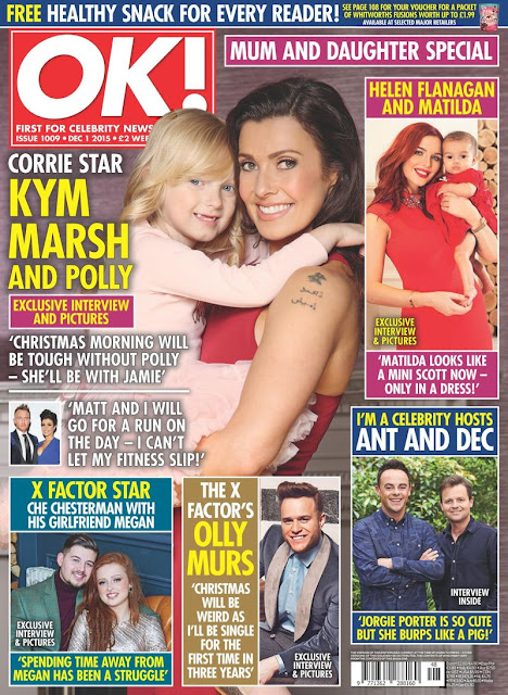 Actress, Singer, @ Kym Marsh - OK! Magazine UK, December 2015