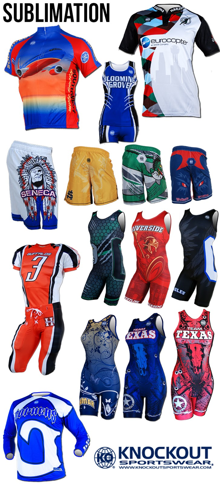 Sublimated Athletic apparel