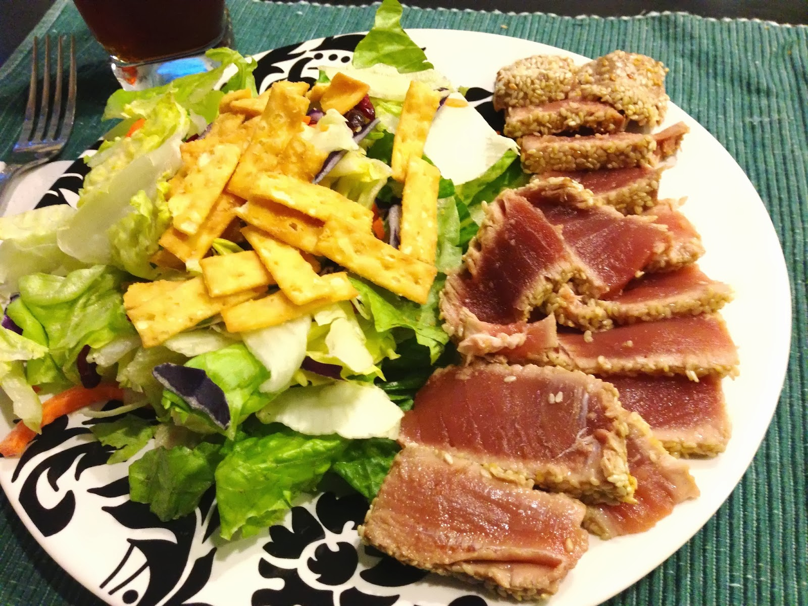 Cooking in Cucamonga: Sesame-crusted Seared Ahi Tuna