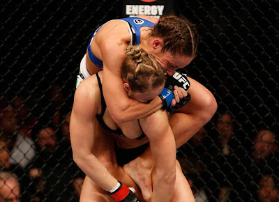 Liz Carmouche's submission attempt on Ronda Rousey
