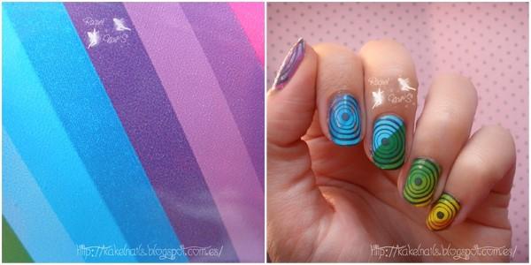 nail art foil arco iris