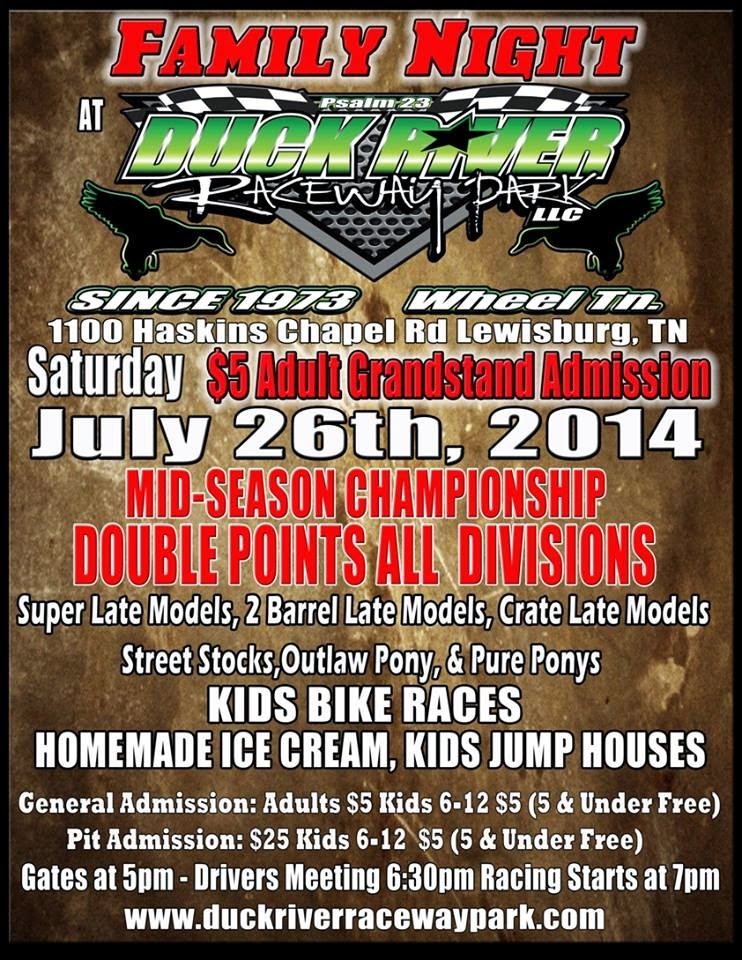 Family Night at Duck River Raceway Park