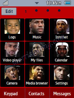 Corby 2 NBA Miami Heat Lebron James Samsung Themes Free Download Menus