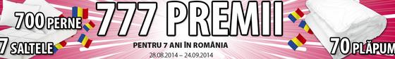 7 ani de JYSK România www.jysk.ro/777premii