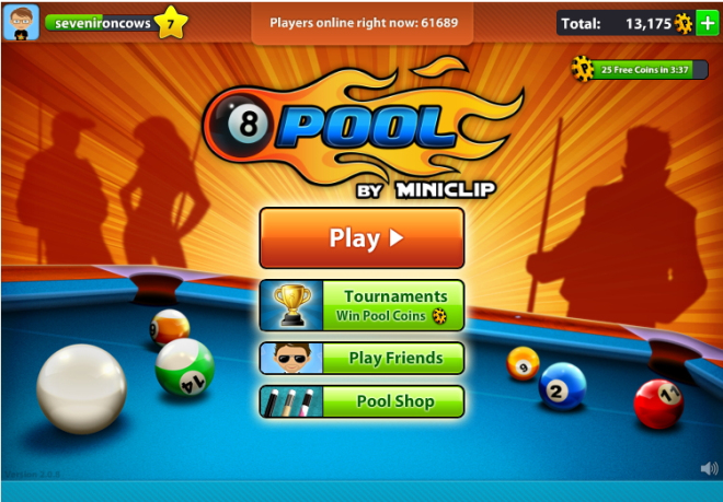 how to play 8 ball pool with friends on facebook