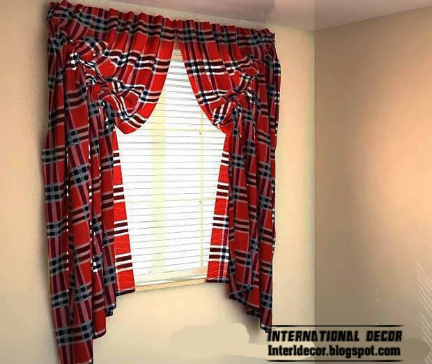 red curtains, small red curtain and window treatments