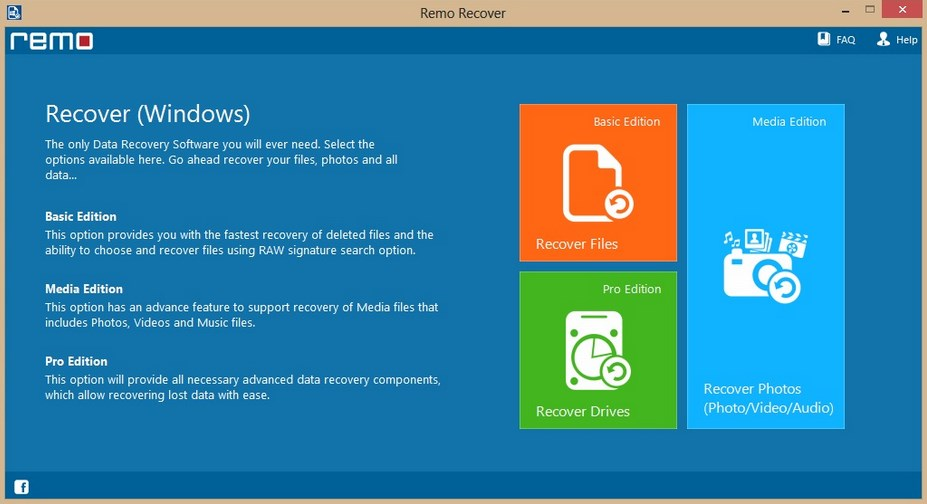Remo Recover (Windows) Pro v4.0.0.34