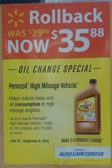 Time For An Oil Change Pennzoil Summer Rollback At Walmart