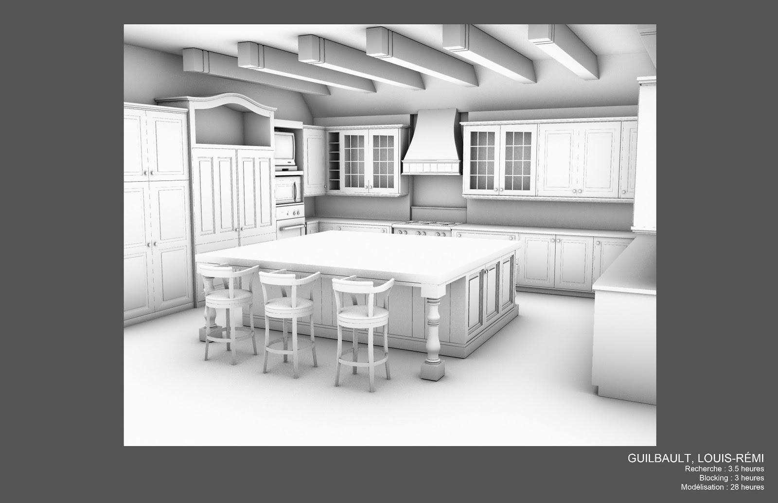 Louis r mi guilbault mod lisation d 39 une cuisine 3d for Modelisation cuisine 3d
