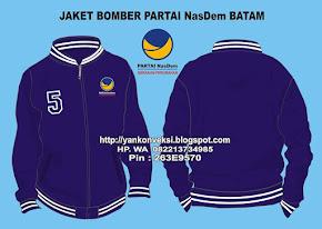 JAKET BOMBER PARTAI NASDEM