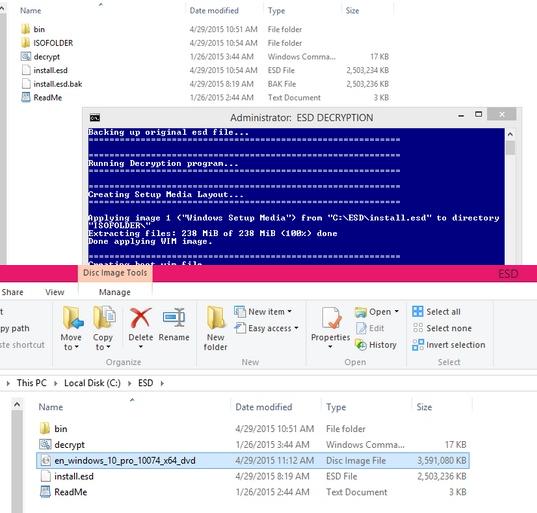 Cara Menconvert File ESD Windows 10 Menjadi File ISO