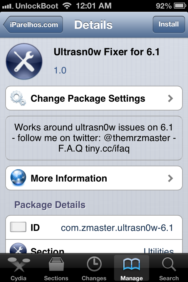 Unlock iOS 6.1 with Ultrasn0w