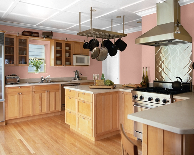 coral kitchen cabinet colors Making Your Home Sing: Red Paint Colors for a Kitchen