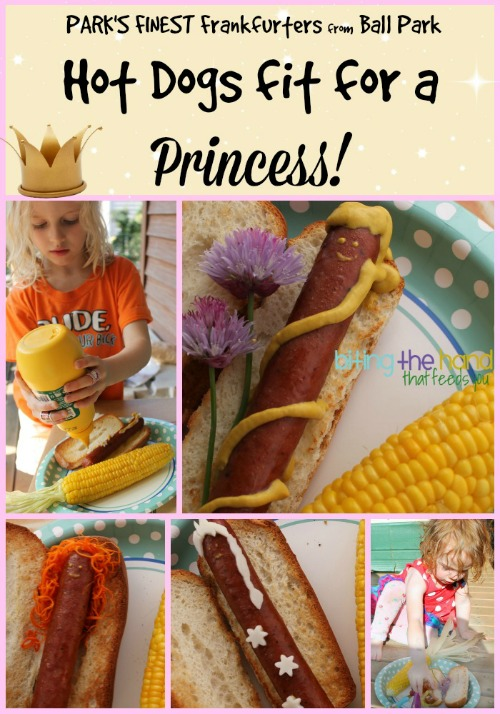 Fun and easy Summer dish fit for a Princess! Merida, Rapunzel, and Elsa hot dogs with Park's Finest Franks!