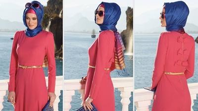 Alvina Yazlık Kapalı Elbise