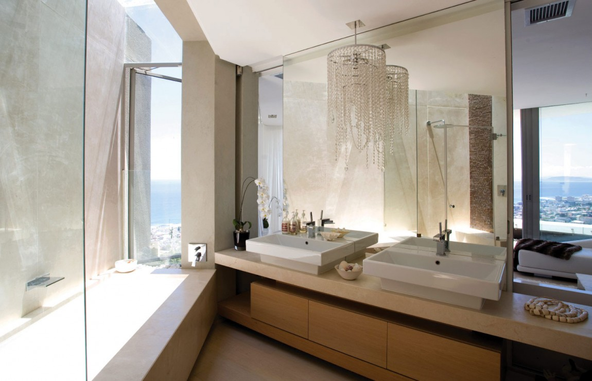 World of architecture amazing mansion house by saota for Modern bathrooms south africa