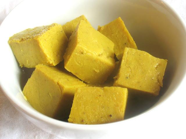 chickpea flour cubes