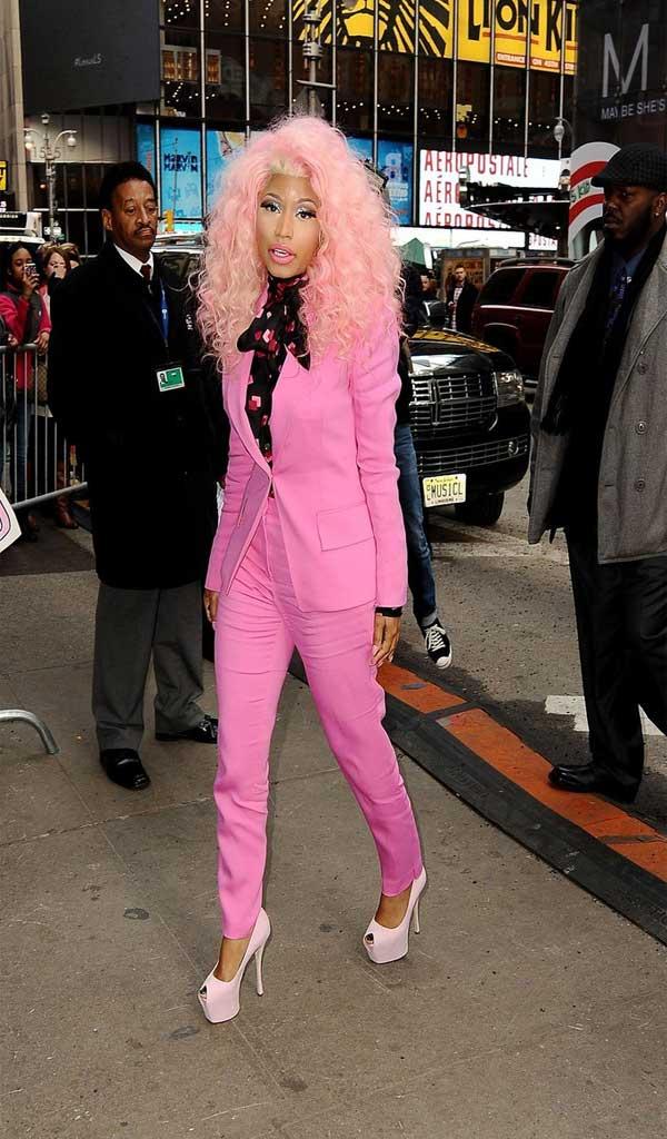 Nicki Minaj Peep Toe Pumps Celebrities Style