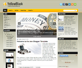 YellowBlack+Blogger+Template