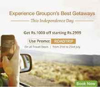 Get Rs.1000 OFF on Travel Deals On a Purchase Of Rs.2999 & More Via  Groupon