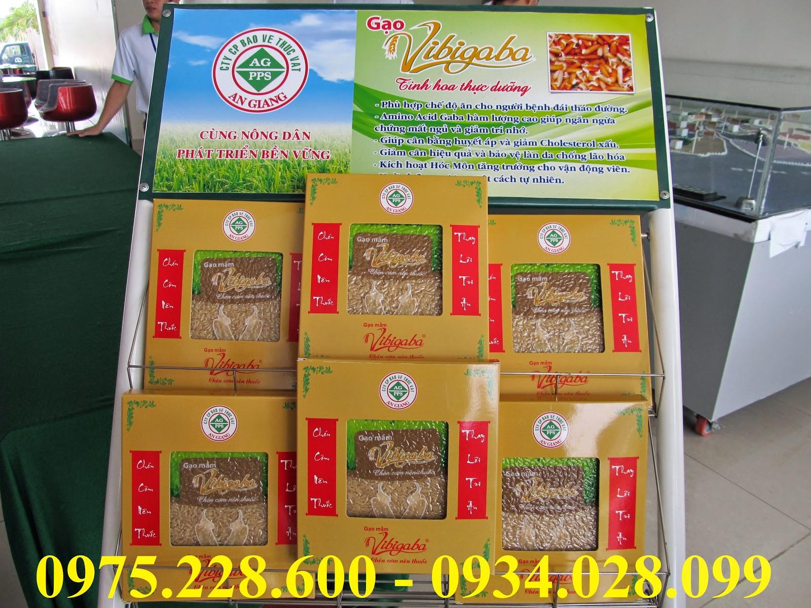 gạo mầm được đóng gói ép chân không Khối lượng: 75.000/1kg