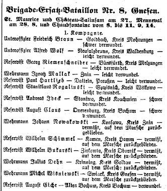Verlustlisten 1914