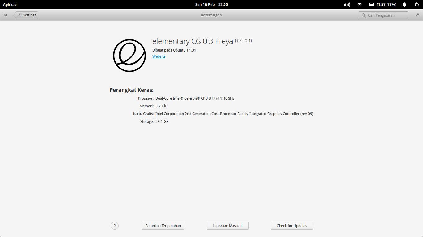 Linux Elementary OS : Unstable 0.3 Freya yang cantik dan gegas.