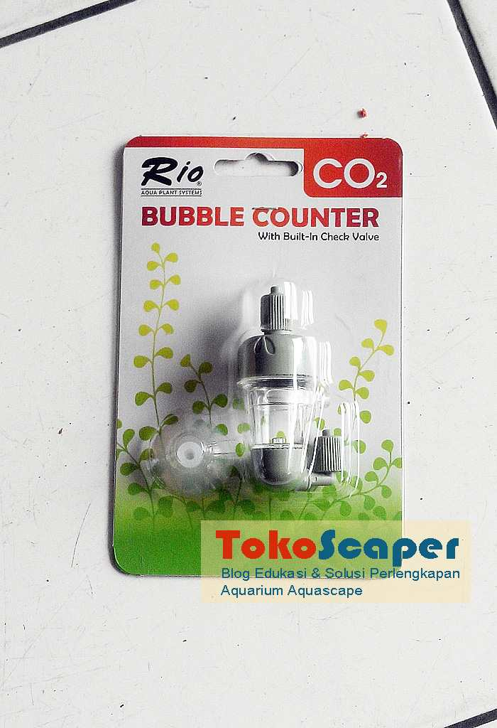 2 in 1 Aquarium CO2 Bubble Counter & Built In Check Valve RIO