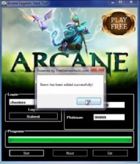 Arcane Legends Hack Tool Gold Platinum - software download
