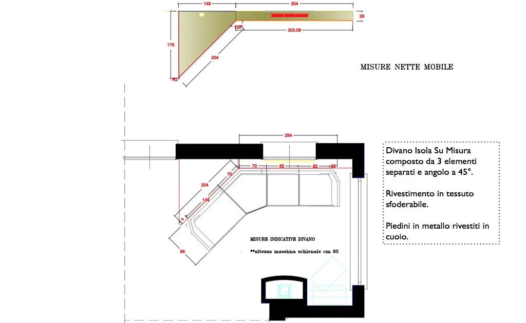 Divani e divani letto su misura un divano isola su misura - Dimensioni divano con isola ...