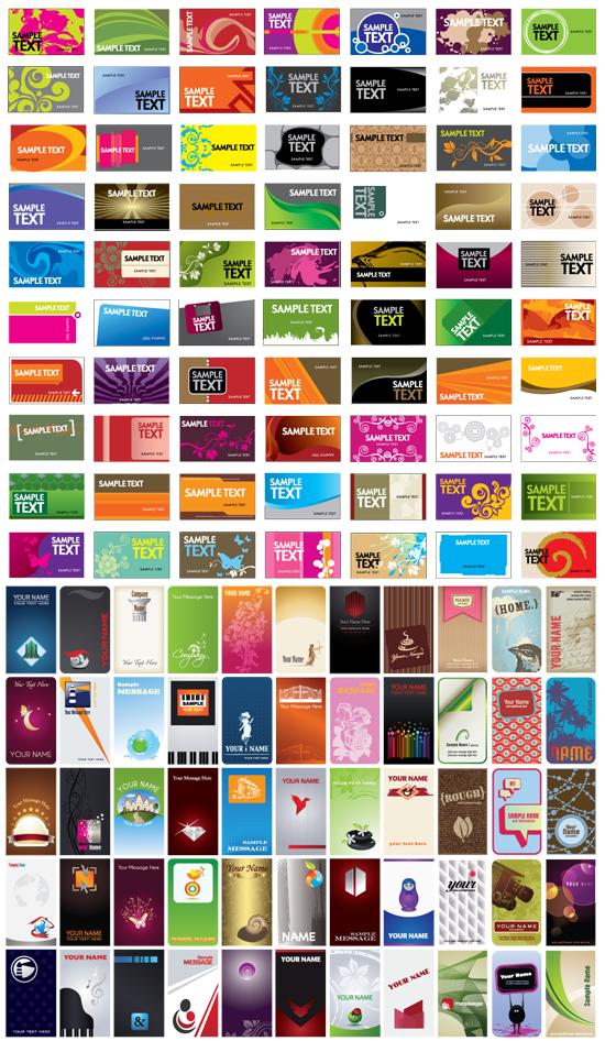 250 Vectores de Tarjetas de Visita Imagen Previa 02 by Saltaalavista Blog