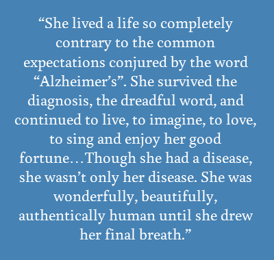 Blogger's Journey in Alzheimer's World Brings Perspective