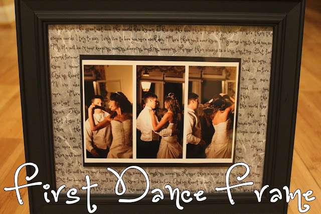 DIY First Dance Frame