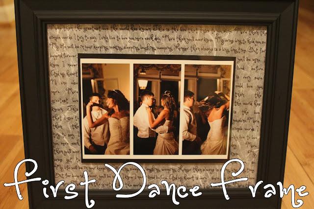 DIY First Dance Frame