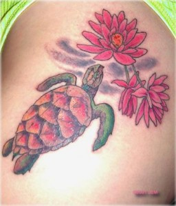 Hawaiian Turtle Tattoos - Feminine Tattoos