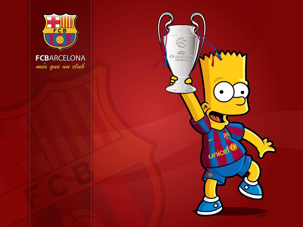 Wallpaper Of Barca Cartoon  UEFA Champions League