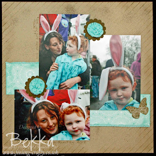 Bekka's Three Photo Easter Scrapbook Page with Attic Boutique Papers from Stampin' Up!  www.feeling-crafty.co.uk