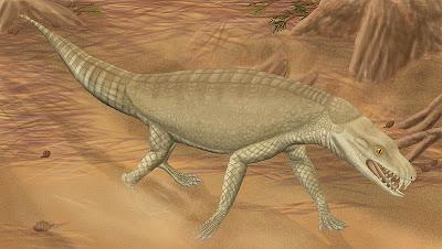 reptiles extraños de Brasil Armadillosuchus