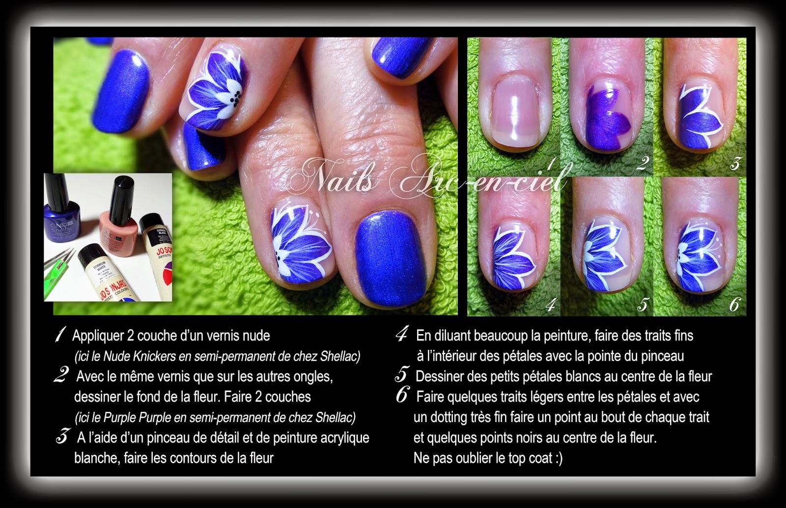tuto nail art fleur