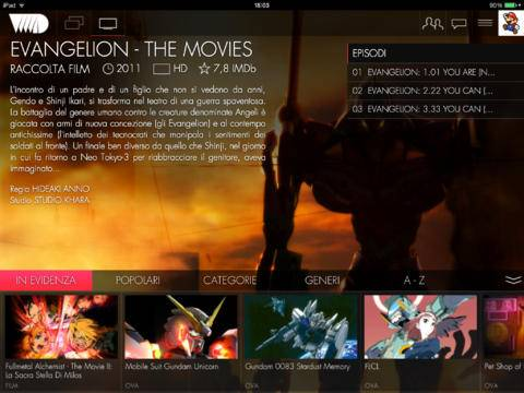 Come vedere gli anime in streaming sul tablet iPad