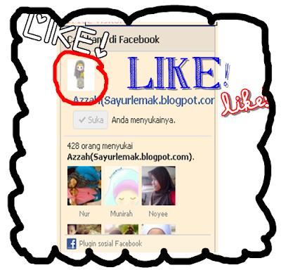 fanpage,azzahsaid,sayurlemak.blogspot.com,like
