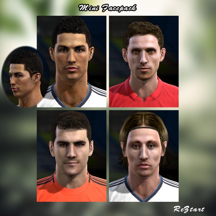 Cristiano Ronaldo, Joe Allen, Iker Casillas e Luka Modrić Faces - PES 2013