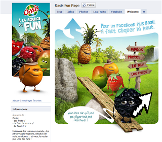 Page Facebook oasis avant la Timeline (landing page)